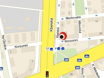 mapa - sídlo Konzumní